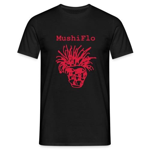 MushiFlo Shirt  - Rot auf Schwarz - Männer T-Shirt