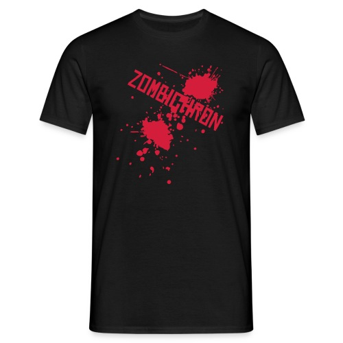 Zombichron T-Shirt - Blood Splat - Men's T-Shirt