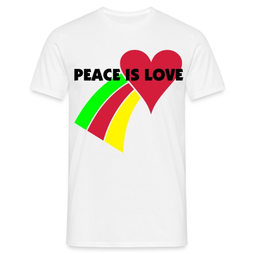 PEACE IS LOVE MENS T - Men's T-Shirt