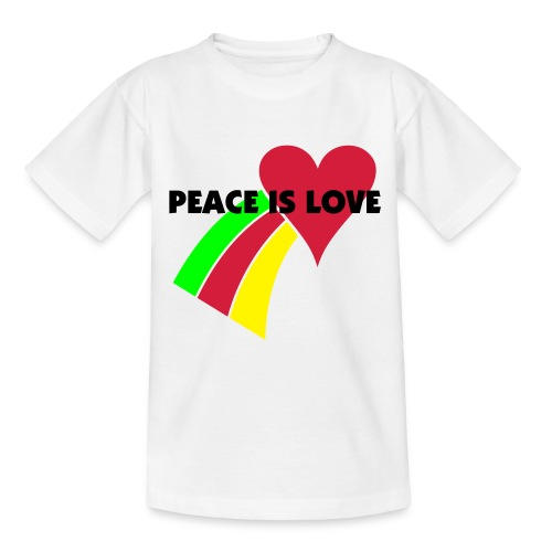 PEACE IS LOVE KIDS T - Teenage T-Shirt