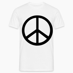 White peace sign T-Shirts