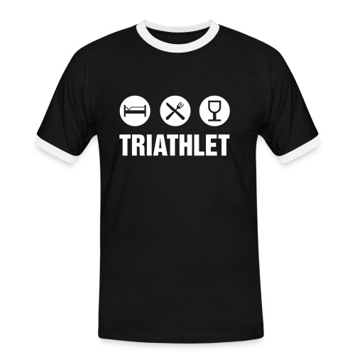 Triathlet - Männer Kontrast-T-Shirt