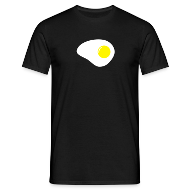 Black egg_2col_black_t_11 Men's Tees (short-sleeved)