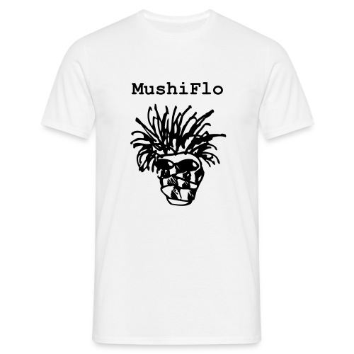 MushiFlo Shirt - Schwarz auf Weiss - Männer T-Shirt