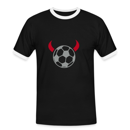 FSV Football Devil - Shirt schwarz - Männer Kontrast-T-Shirt