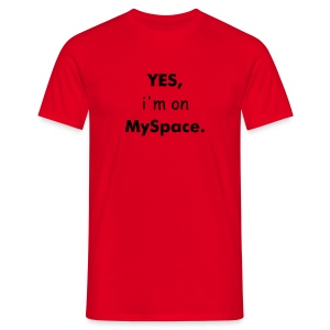 MySpace Red - Men's T-Shirt