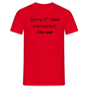 Not interested Red - Men's T-Shirt