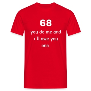 68 Red - Men's T-Shirt