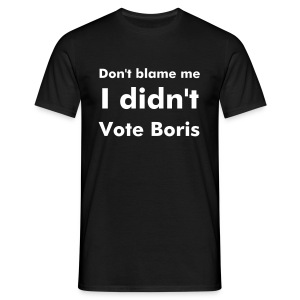 Men's Black I Didn't Vote Boris T Shirt - Men's T-Shirt