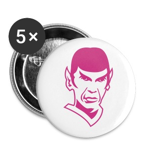 Spock Badge - Buttons large 56 mm