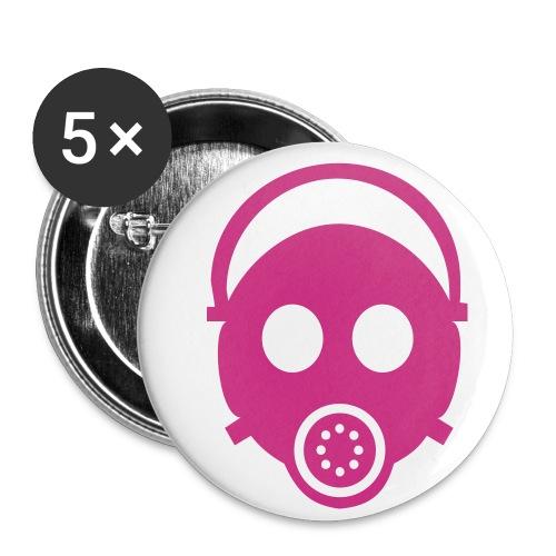 Gas Mask Badge - Buttons medium 32 mm