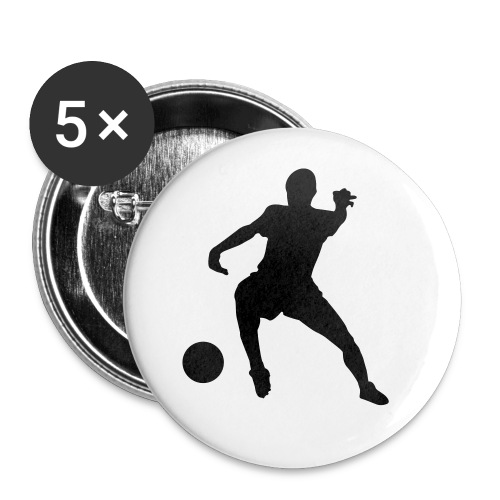 Soccer Buttons - Buttons groß 56 mm (5er Pack)