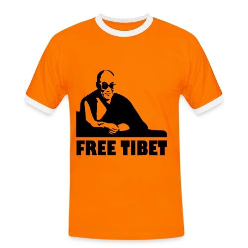 T-Shirt - Maglietta - Free Tibet - Dalai Lama - Maglietta Contrast da uomo
