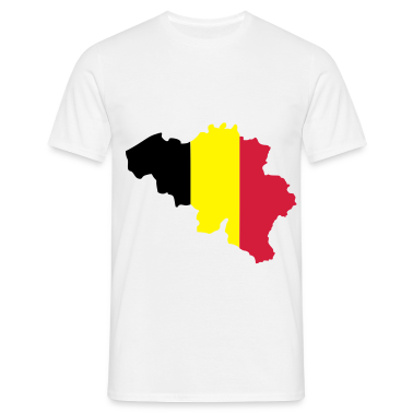 White Belgium flag map T-Shirts