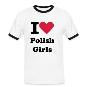 I LOVE POLISH GIRLS - Men's Ringer Shirt