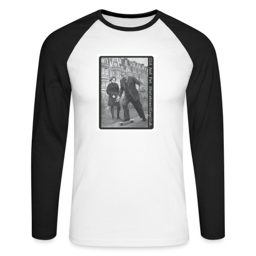 Old And Fat Skateboarding Club - Men's Long Sleeve Baseball T-Shirt