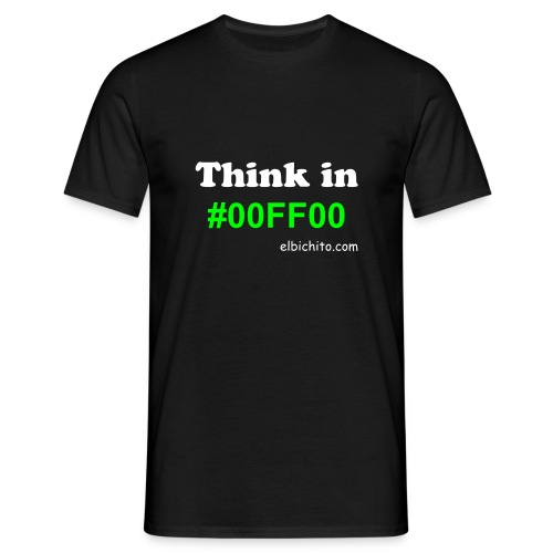 Think in green - Camiseta hombre