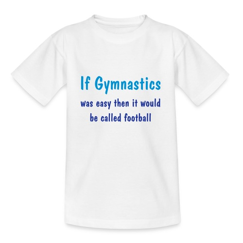 Gymnastics Easy - White - Teenage T-Shirt