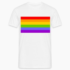 White rainbow flag T-Shirts