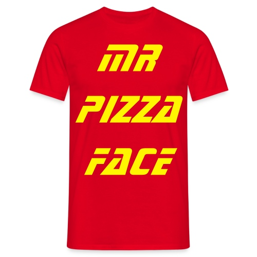 Mr Pizza Face Casual T - Men's T-Shirt