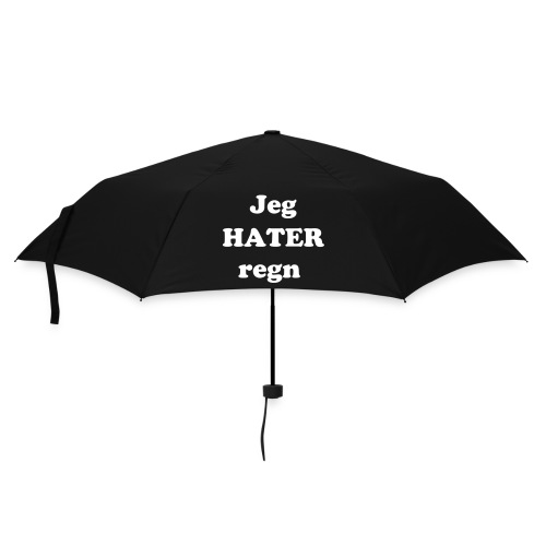 Paraply - Jeg HATER regn - Paraply (liten)