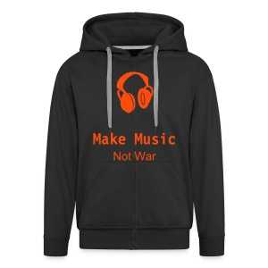 'Make Music Not War' Hoodie - Men's Premium Hooded Jacket