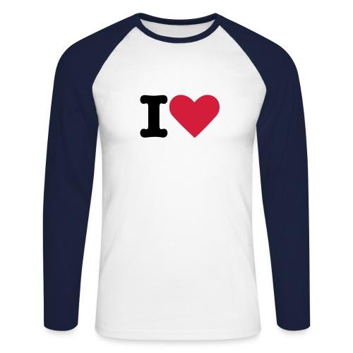 I love - T-shirt baseball manches longues Homme