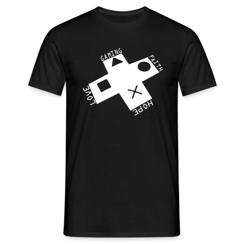 Love Faith Hope Gaming - Männer T-Shirt