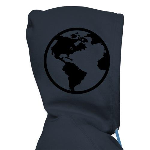 Blå verdenshette - Premium Hettejakke for menn