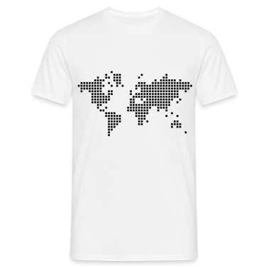 White earth world pixel map T-Shirts
