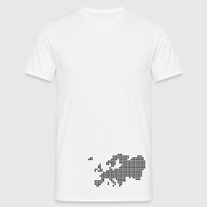 White Europe pixel map T-Shirts - Men's T-Shirt
