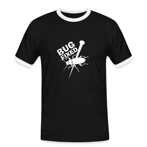 Bug fixed - Männer Kontrast-T-Shirt