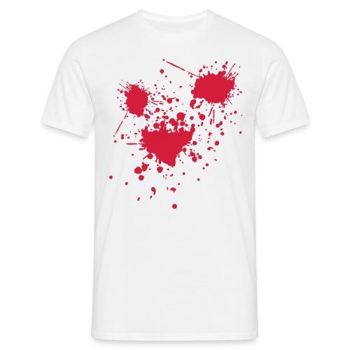 T-Shirt Blutspritzer - Männer T-Shirt