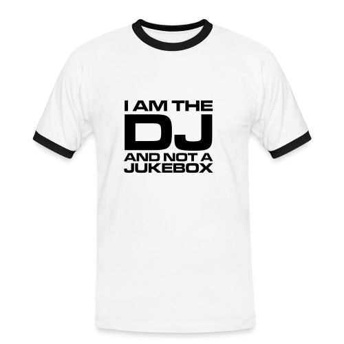 I'm am the DJ retro - Mannen contrastshirt