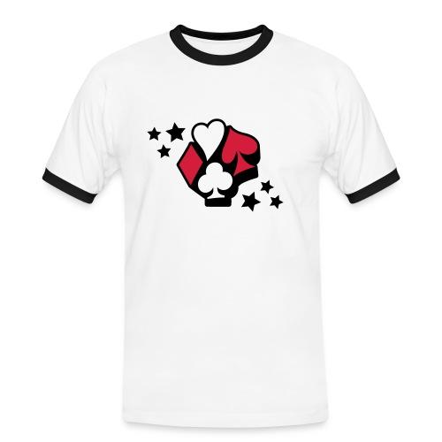 t-shirt Star Poker - T-shirt contrasté Homme