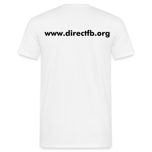 DirectFB (double, white) - Männer T-Shirt