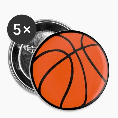 Wit Basketball Buttons / aanstekers
