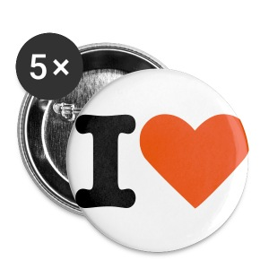 I love - Badge petit 25 mm