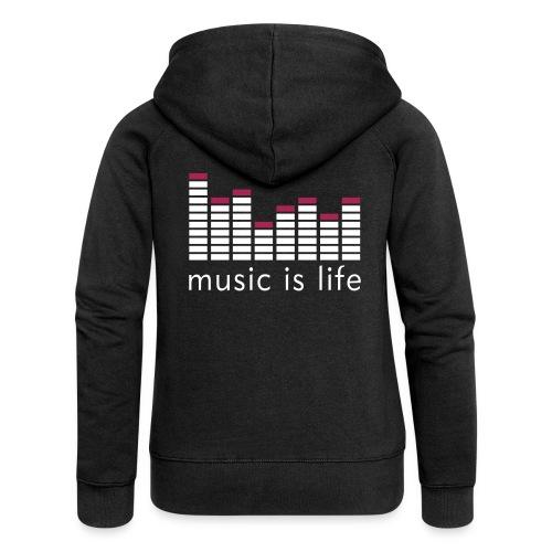 Svart Music Is Life Genser - Premium hettejakke for kvinner