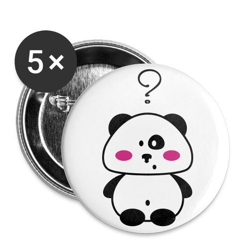 Lallo il panda - Confezione da 5 spille grandi (56 mm)