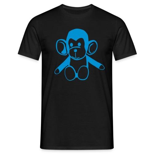 Smack the monkey t-shirt blå - T-skjorte for menn