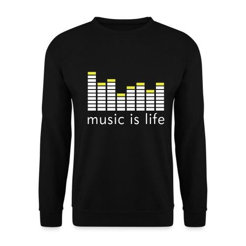 Music is life genser for musikkgærne - Genser for menn