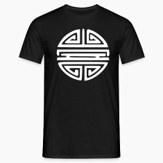 Black Chinese Sun Symbol Immortality T-Shirts