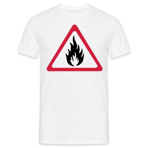 Brann fare! - T-skjorte for menn