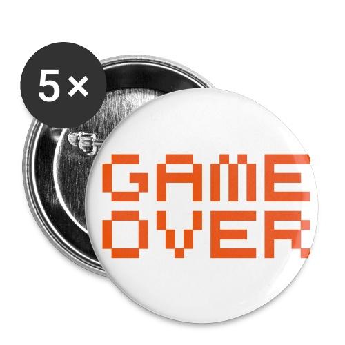 Game Over buttons - Liten pin 25 mm (5-er pakke)