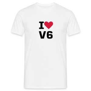 I love V6  - Men's T-Shirt