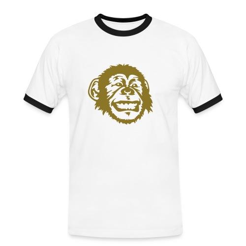 Monkey T-skjorte - Kontrast-T-skjorte for menn