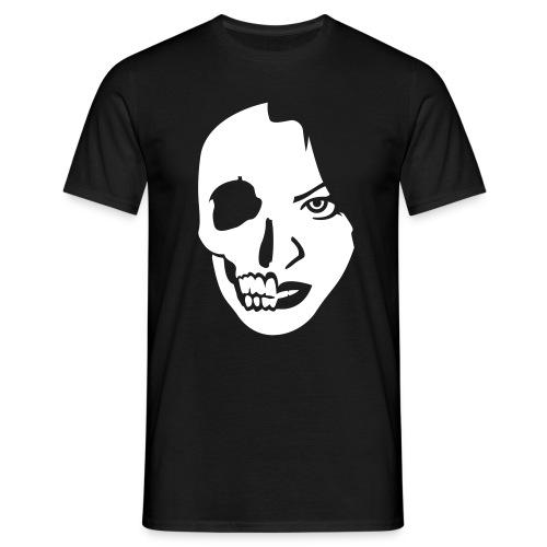 Face Skull - white/black shirt - Männer T-Shirt