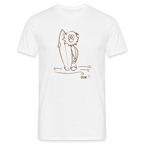 Caveman Surfer (c) - Men's T-Shirt