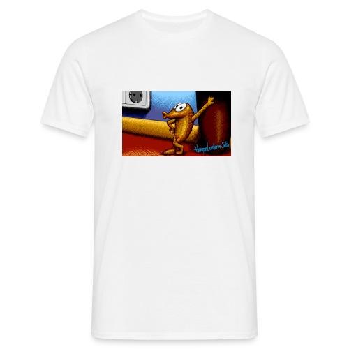 Hempel unterm Sofa, Zeichnung - T-Shirt figurnah - Männer T-Shirt